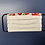 Thumbnail: WHITE WITH RED FLORAL TRIM FACE MASK