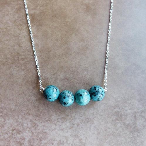 Chrysocolla Gemstone Necklace by Saskia Wrycroft