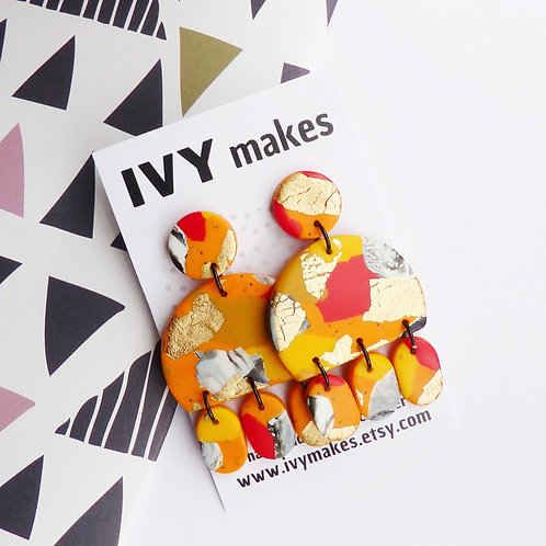 Funky Colour Block Earrings by Ivy Makes