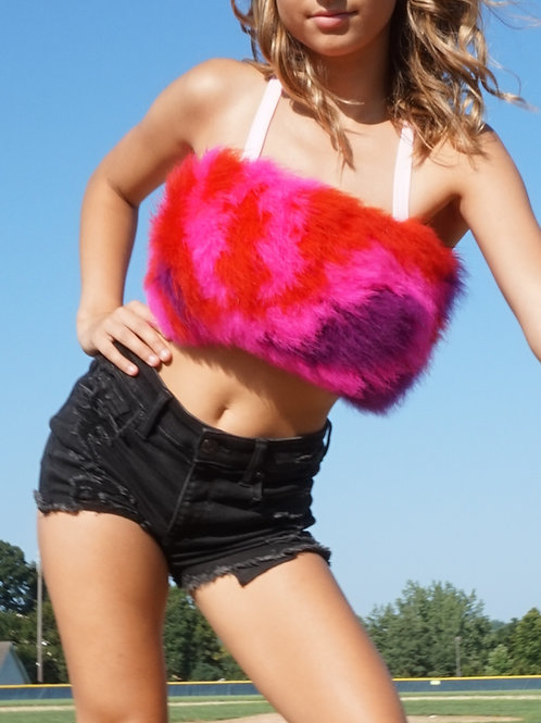 MALLORY FEATHER CROP
