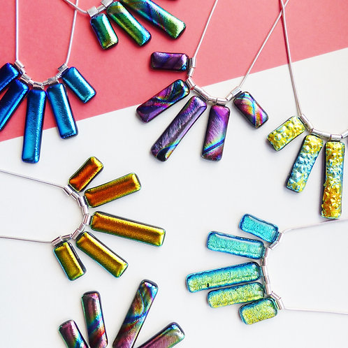 Statement Glass Necklaces by Twisted Little Flowers