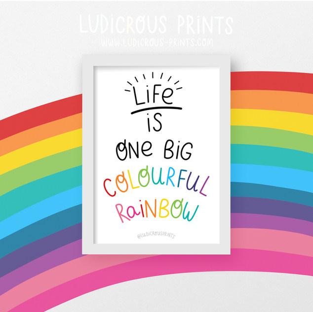 Rainbow a4 Print