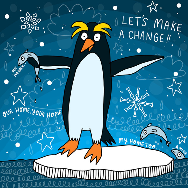 Climate Change Penguin