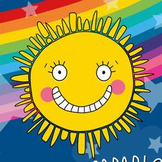 Rainbow Sunshine Illustration