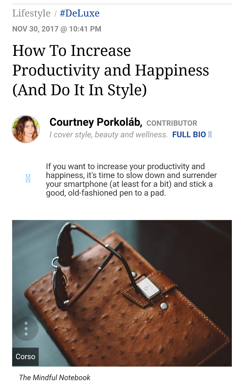 Mindful Notebook - Forbes