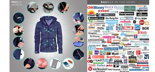 BauBax Travel Jacket Media Coverage