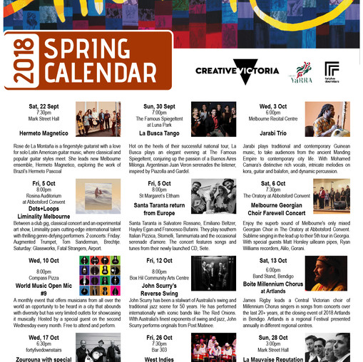 Our 2019 Spring Calendar is out!
