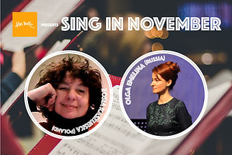 A day of singing workshops online featuring Zosia Kaszubska (Poland) and Olga Emelina (Russia) on Sunday November 15th
