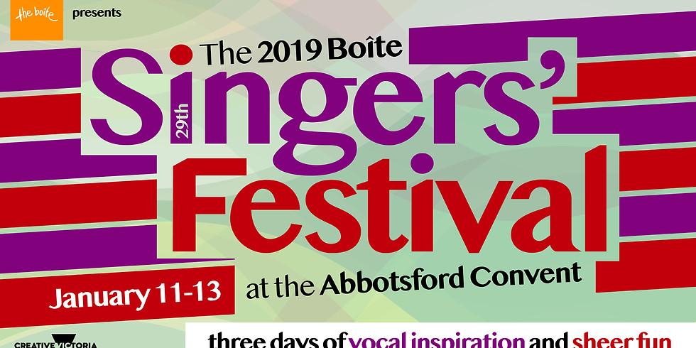 The 2019 Boite Singers' Festival