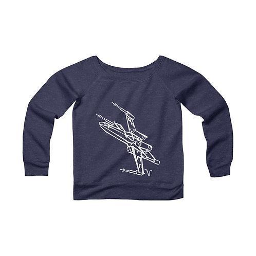 X-Wing Fighter [2] Women's Wide Neck Sweatshirt