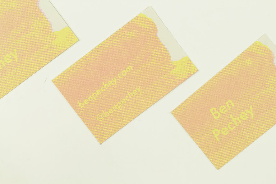 Bespoke Buisness Cards, Screen Printed