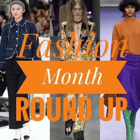 Fashion Month Round Up...