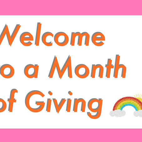 A Month of Giving