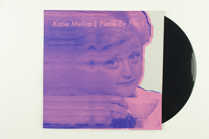 Screen Printed Record Cover for Katie Melua's Peice by Peice