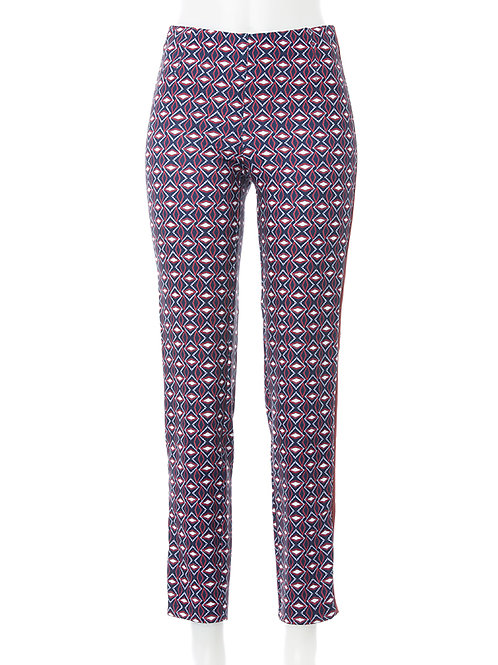 Jeggings Jacky Tape Fashion Print marine / bordeaux