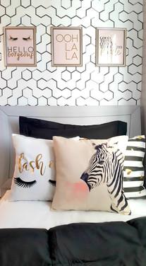 Glam teen girls bedroom
