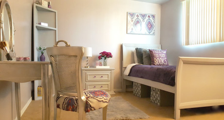 Young woman's bedroom design