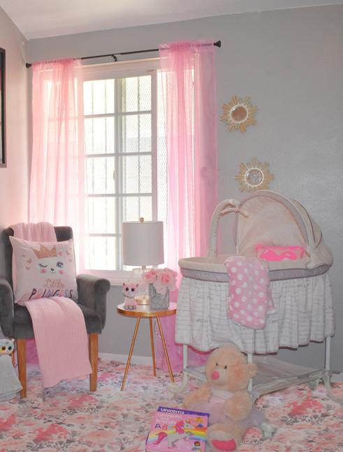 Tiny House Nursery (44 sq ft bedroom). Designer:  Tia-Sonya Shackelford Project Year: 2021