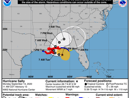 Governor Ivey issues state of emergency, closes beaches as Hurricane Sally nears Alabama Gulf Coast