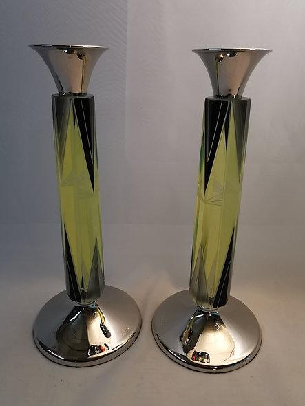 Pair of Modernist Candlesticks