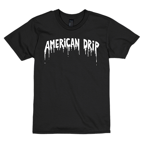 American Drip Black Tee