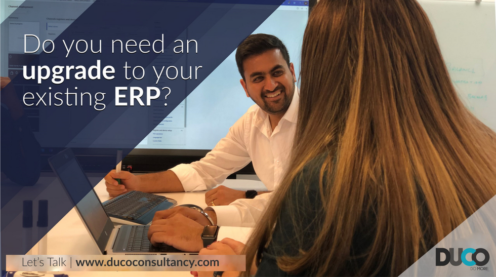 Upgrade your ERP