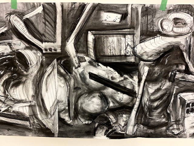Group drawing, tone and composition
