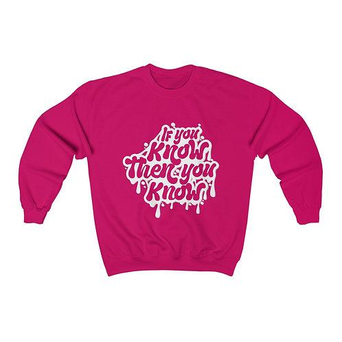 IYKTYK Unisex Crewneck Sweatshirt (WHITE TEXT)