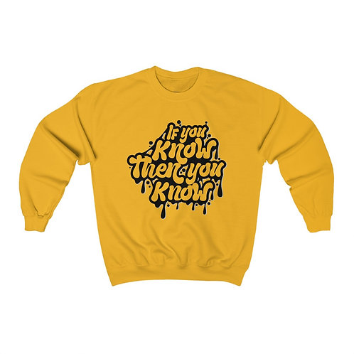 IYKTYK Unisex Crewneck Sweatshirt (BLACK TEXT)