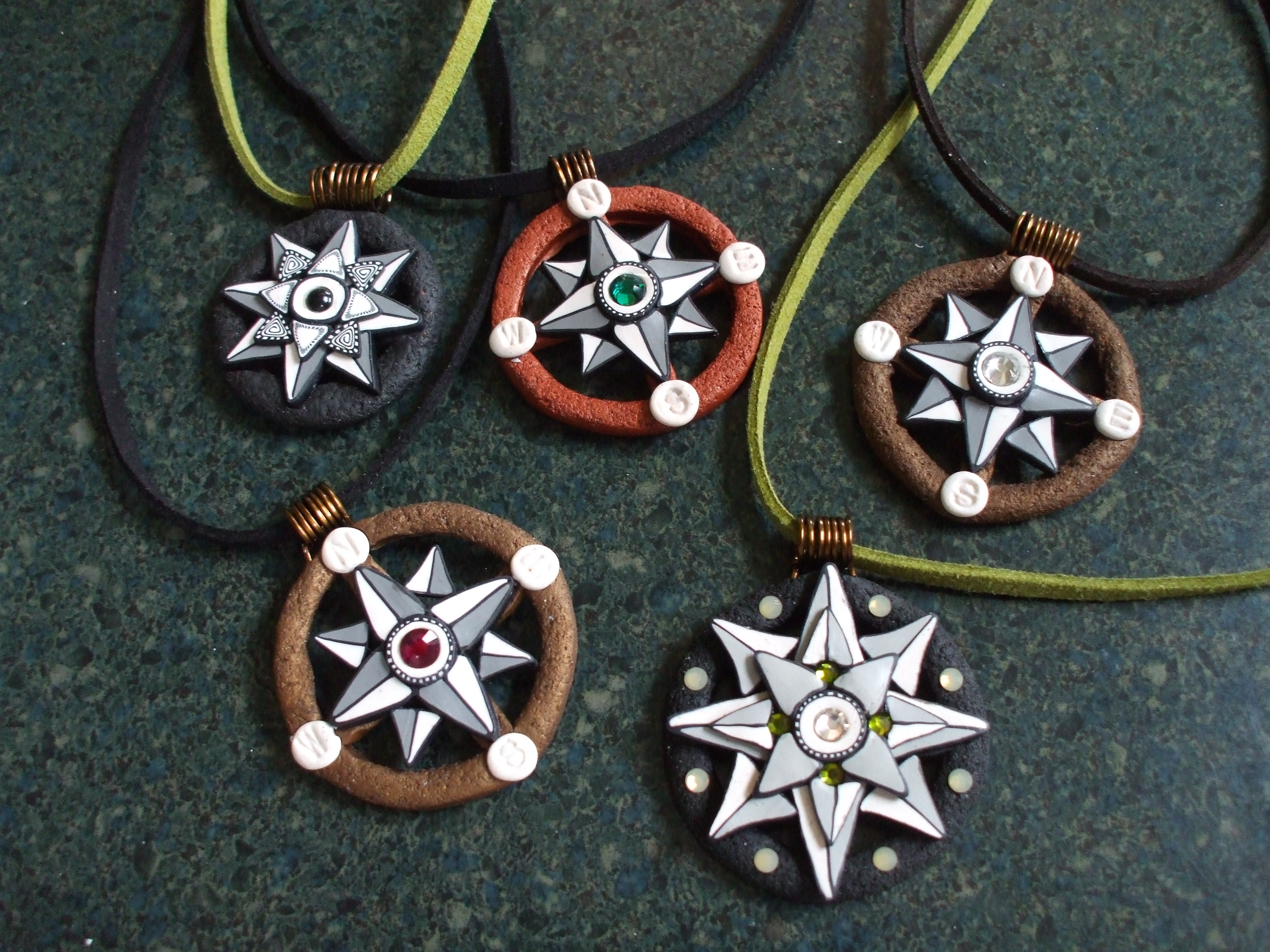 Compass Rose Pendants