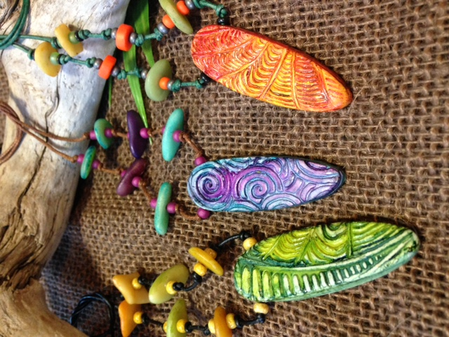 """surf board"" tropical necklaces"