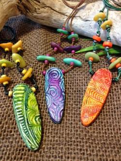 """surf board"" tropical necklaces"