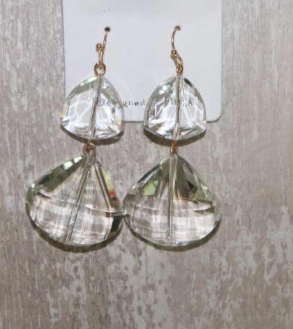 Precious Stone Drop Earrings