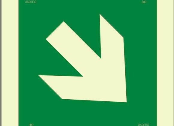 Е02-02 «Направляющая стрелка под углом 45˚»