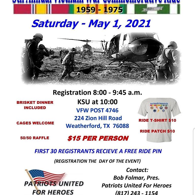 5th Annual Vietnam War Commemorative Ride