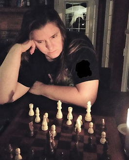 Me Concentrating on a Chess Game
