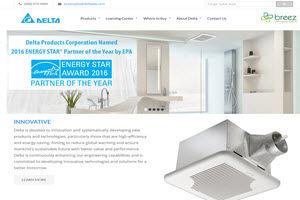 Delta Breez Website