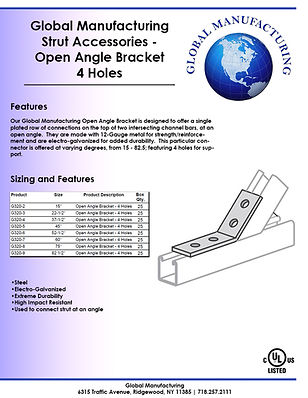 Strut Accessories - Open Angle Bracket 4