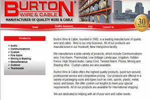 Burton Wire and Cable Website