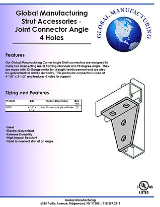 Strut Accessories - Joint Connector Angl