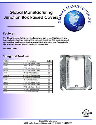 Junction Box Raised Covers Single Gang S