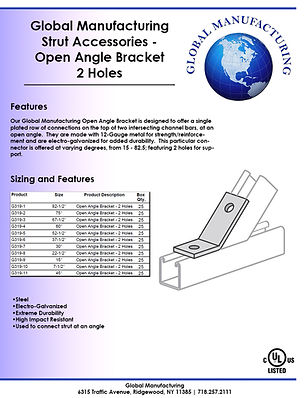 Strut Accessories - Open Angle Bracket 2