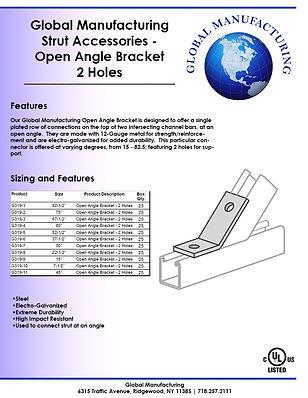 Strut Accessories - Open Angle Bracket 2