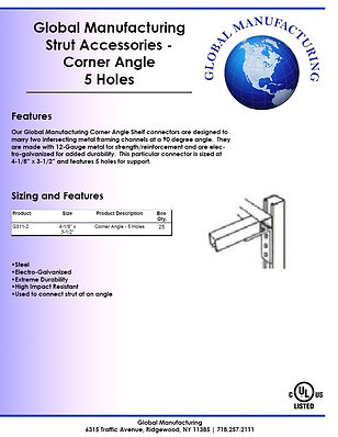 Strut Accessories - Corner Angle 5 Holes