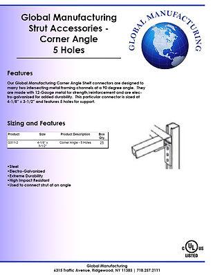 Strut Accessories - Corner Angle 5 Holes