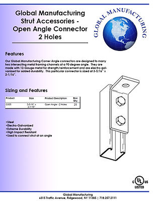 Strut Accessories - Open Angle 2 Hole.jp