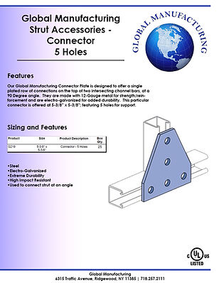 Strut Accessories - Connector 5 holes.jp