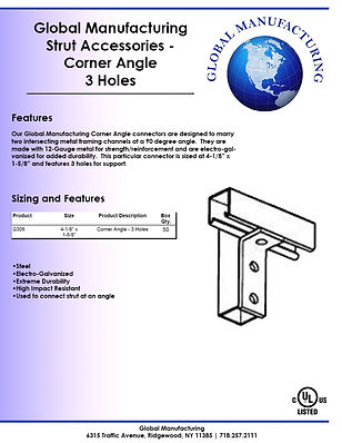 Strut Accessories - Corner Angle 3 Holes
