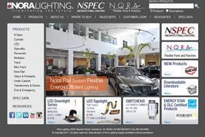 Nora Lighting Website