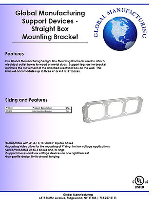 Support Devices - Straight Box Mounting